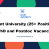 Ghent University Vacancies