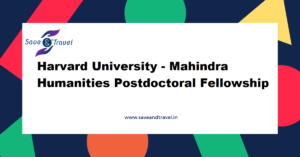Harvard Mahindra Postdoc Fellowship
