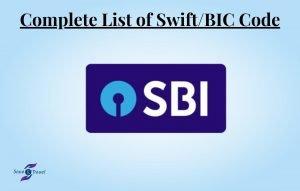 SWIFT Code for SBI